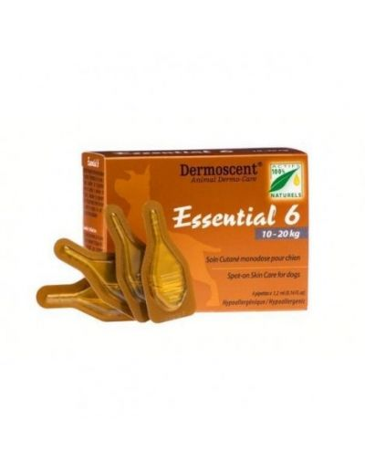 Dermoscent Essential 6 Dog 10-20Kg 4Pk