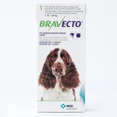 Bravecto 500mg for Medium Dogs 10-20kg (22lbs-44lbs)