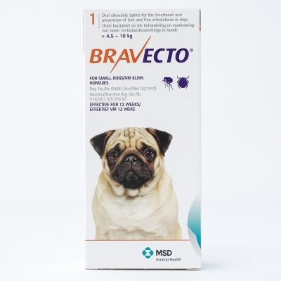 Bravecto 250mg  For Small Dogs 4.5-10kg (10-22lbs)