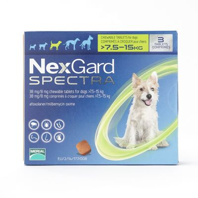 NexGard Spectra Medium Dogs 7.5-15kg (16-33lbs) 6 Pack