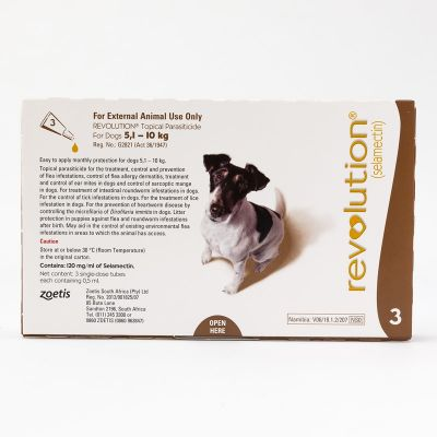 Revolution (Brown) for Small Dogs weighing 5.1-10kg (10.1-20lbs), 3 Pack