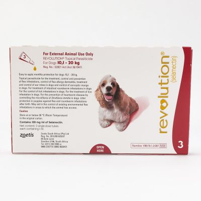 Revolution Red 3 Pack for dogs 10-20kg (22-44lbs)