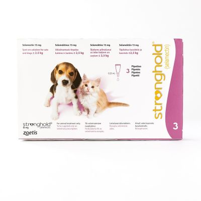 Stronghold For Cats & Dogs under 2.5kg (5lbs) Pink, 3 Pack