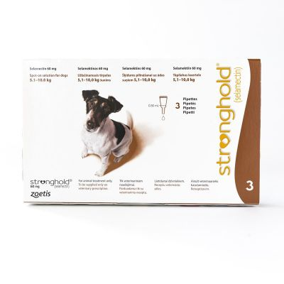 Stronghold for Dogs 5.1-10kg (11-22lbs) Brown, 3 Pack